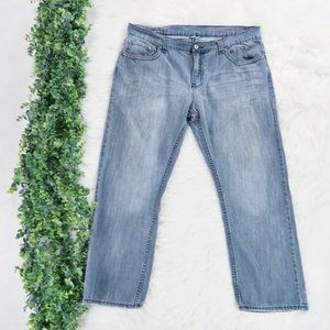 Flypaper Relaxed Straight Leg Denim Jeans 38 x 30